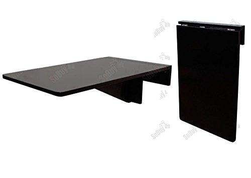 SoBuy® FWT04-Sch Table murale rabattable en bois, Table pour les enfants, Table de cuisine, Bureau L45cmxP70cm Noir
