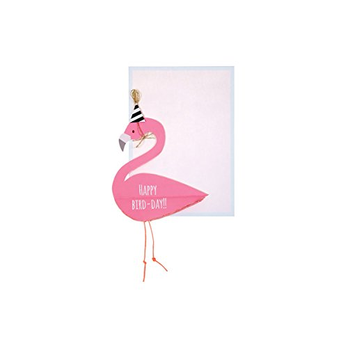 Meri Meri 3D Flamingo Grusskarte Geburtstag 13x18 cm
