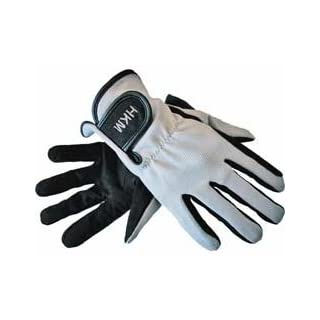 Hkm Equestrian Adults Kids Special Elasticated Imitation Leather Riding Gloves