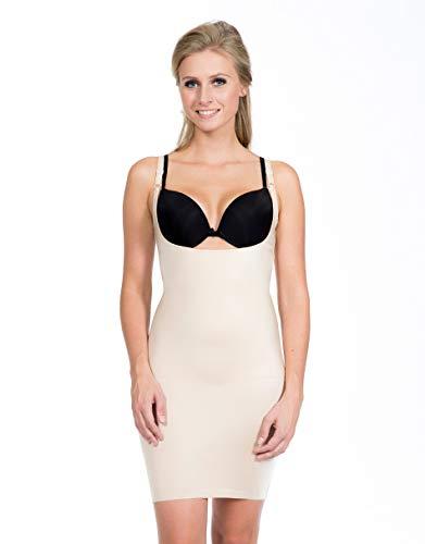 Magic Bodyfashion Damen Miederkleid Full Slip Dress Beige (Latte 1323) 36 (Herstellergröße: Medium)