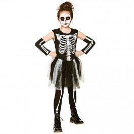 Skelebones Girl's Costume Skeleton Extra Large for Halloween -