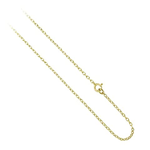 18K Gold over Sterling Silver 1mm Rolo Belcher Chain Bracelet, Anklet, Necklace 7