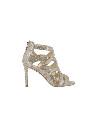Michael Kors Sandalo Annalee Sandal Glitter 40S9ANHA1D Silver/Sand Taglia 38 - Colore Sabbia