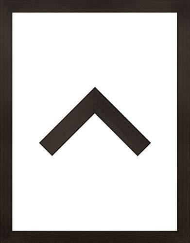 RahmenMax Morena Holz Werkstoff Bilderrahmen 28 x 30 cm modernes sehr eckiges Profil 30 x 28 cm Grosse Farbauswahl jetzt: Eiche dunkel mit Kunstglas klar 1 mm (Dunkle Holz-bilderrahmen)