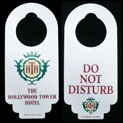 Disney Tower of Terror Hotel (Hollywood Tower Hotel) Do Not Disturb Door Hanger by Disney