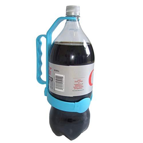 Happy Event Universalflaschengriff Fügt Griff zu 1 und 2 Liter Flaschen hinzu Wasserauslauf Flaschengriff (Blau)