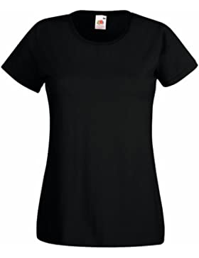 Fruit of the Loom Damen T-Shirt Valueweight T Lady-Fit
