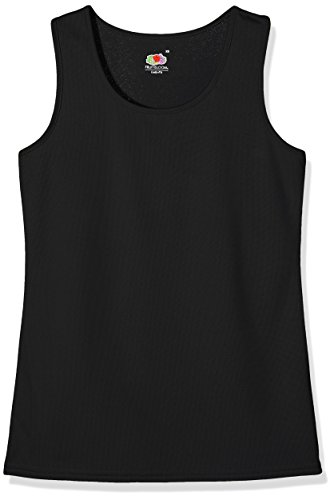 Fruit of the Loom Damen Top, Schwarz, 46 (herstellergröße: Xx-large) (Fruit Of The Loom Tank Damen)