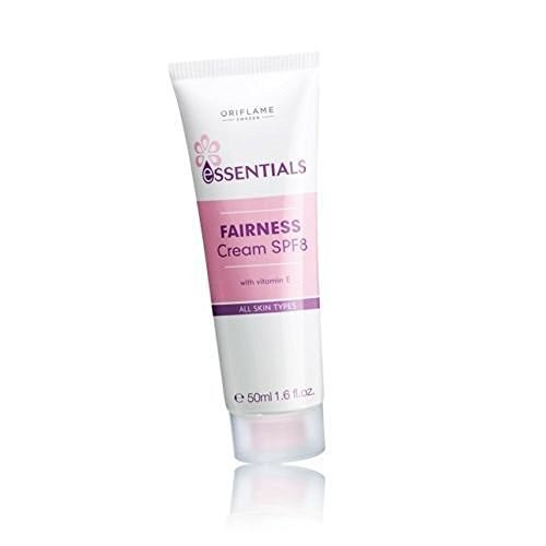 Oriflame Essentials Fairness Cream SPF 8 50ml (Pack of 3)  available at amazon for Rs.399