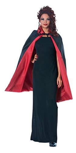 schwarzes kurzes Cape - Poncho Devil Kostüm