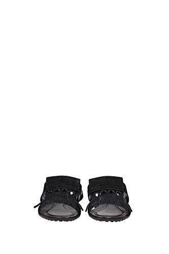 XXM0OV0Q200RE0B999 Tod's Sandale Femme Chamois Noir Noir