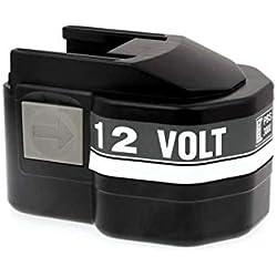 Powery Batterie pour AEG perceuse visseuse Best 12X Super, 12V, NiMH [ Batterie Outil électroportatif ]
