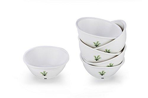 Signoraware Bamboo Plastic Serving Bowl Set, 220ml, Set of 6, White