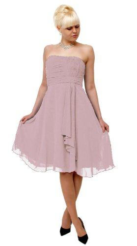 JuJu & Christine -  Vestito  - Sera  - Basic - Senza maniche  - Donna rosa anticato