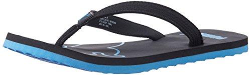 Puma Men's Colaba DP Black and Blue Aster Rubber Flip-Flops...