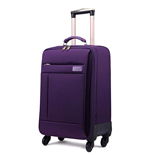 Valise De Cabine Légère 4 Roues - Valise De Cabine Ryanair - Baggage Baggage Travel - Unisexe - Idéal pour Les Voyages d'affaires - Bleu,Purple,16In