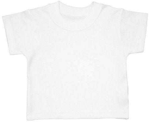 BabywearUK BABY T-SHIRT - White - 0-3 months - British Made
