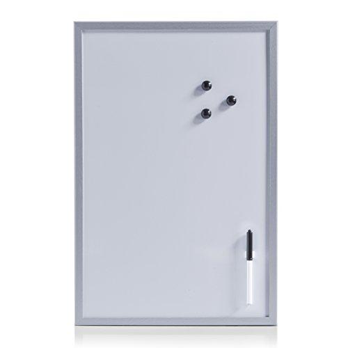 zeller-11538-tableau-magnetique-inscriptible-gris-alu-40-x-60-cm