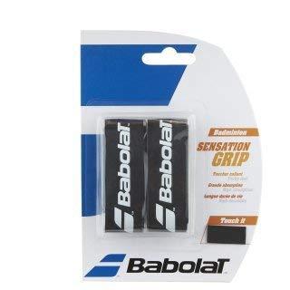 Babolat Badminton Basis Griffband Sensation 2er Packung in verschiedenen tollen Farben (schwarz)