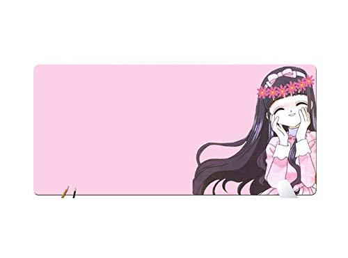 IGZNB Mauspad Mit Rosa Mädchen-Herz-Karikatur-Nette Kreative Magische Karte Xiaoying Animation 900X400Mm Elektrische Belegbeweisverschleißfeste Mausunterlage, D (Karten Pokemon Elektrischen)