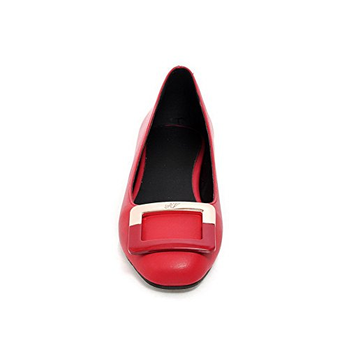 BalaMasa antiscivolo da donna, senza tacco, in pelle, suola scarpe Red