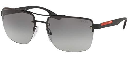 Ray-Ban Herren 0PS 60US Sonnenbrille, Grau (Black Rubber), 62.0