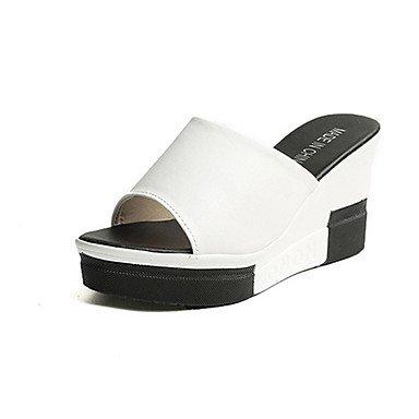 Scarpe Donna FYZSStile della Corea donne di pantofole e infradito Scarpe Primavera Estate Club Comfort tutto il fiammifero flangia di moda US6.5-7 / EU37 / UK4.5-5 / CN37