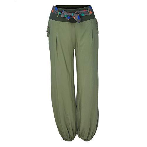 Damen Weich Stretch Weites Bein Palazzo Hose Breite Hoserock Haremshose Yogahose Hippie Hose Lange Hosen Wide Leg by WWricotta