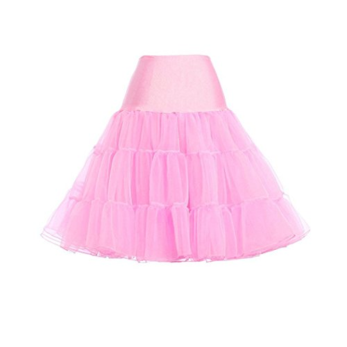 Frauen 50er Jahrgang Rockabilly Petticoat, Tutu Rock, Dance Wear, Hochzeits-Slip Hellrosa
