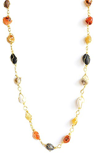Aashya Mayro Alluring Semi-Precious Stone Long Gold Plating Necklace for  Women Girls 7cdfe9c26b