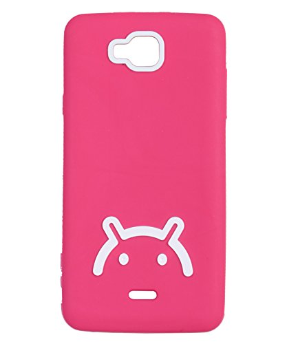 iCandy™ Soft TPU Back Cover For Micromax Canvas L A108 - Pink