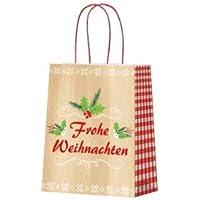 """Papiertragetaschen""""Frohe Weihnachten"""" - 18 x 10 x 22,7 cm - 20 Stück"""