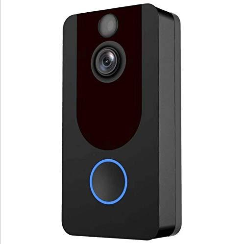 Lcxligang Drahtlose Videotürklingel, 1080P HD-Überwachungskamera-intelligentes Wechselsprechsystem mit PIR-Bewegungserkennungs-Nachtsicht
