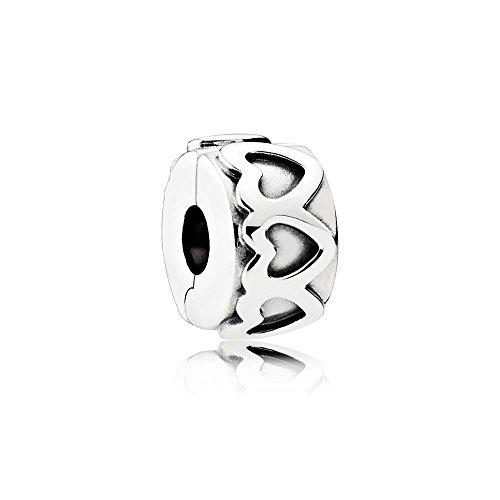 PANDORA - Clip Farandole di cuori d'argento 925/1000 791 978 PANDORA