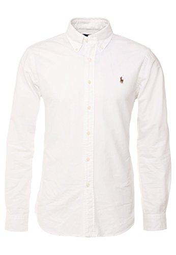 Polo Ralph Lauren, Poloshirt mit Button-Down-Kragen, aus Oxford-Baumwolle, klassische Passform, Weiß XL -