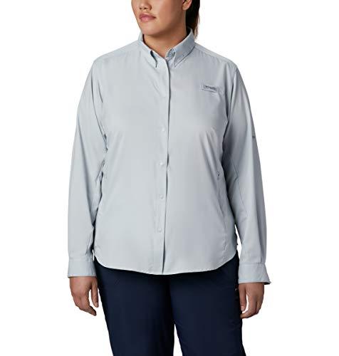 Tamiami Angeln Shirt (Columbia Women's PFG Tamiami II Long Sleeve athletisch, Shirts, Cirrus Grey, 1X)
