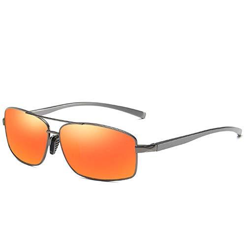 Herren Polarisierte Sonnenbrille Rahmenlose neue Persönlichkeit Mode Brille Fahren Herren Sonnenbrille Sonnenbrille Aluminium-Magnesium Bein polarisierte Sonnenbrille UV400 Retro Vintage Brille für He