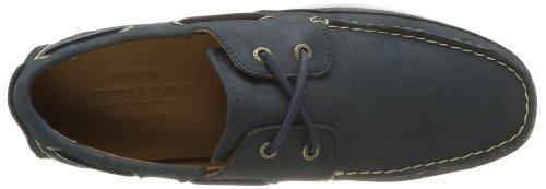 Sebago Canton Two Eye, Chaussures bateau homme Bleu (Navy Nubuck)