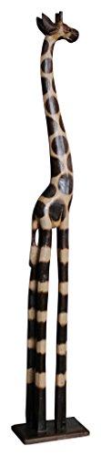 Wohnkult - Jirafa de Madera (120 cm, Hecha a Mano), diseño Africano