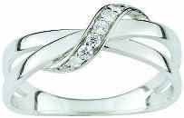 Bijoux pour tous anillos Mujer plata circón