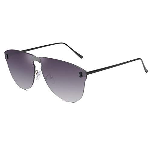 Meisijia Frauen Männer Mädchen Frameless Sonnenbrille All-in-one Conjoined Objektiv-Brillen Eyewear Sreetwear (Für Parteien Einfache Halloween-süßigkeiten)