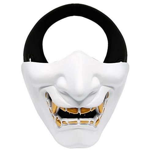 BoburyL MA-91 Outdoor-Half Face Lächeln Halloween-Party-Masken-CS Spiel Cosplay Schutzmaske (Aktivitäten Für Und Spiele Halloween-party Die)