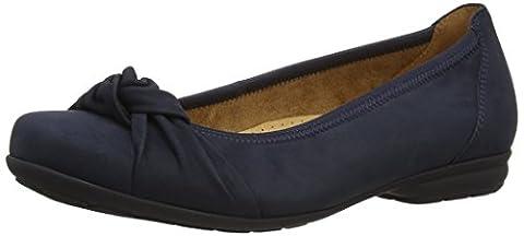 Gabor Shoes 02.643 Damen Geschlossene Ballerinas, Blau (ocean 46), 42 EU