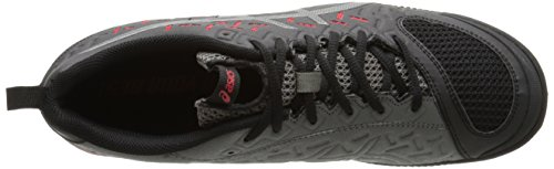 Asics Mens Gel-Fortius TR 2 Training Shoe Black/Gunmetal/Fiery Red