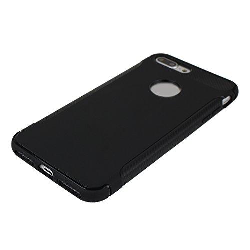 iPhone 7 Plus Hülle Rutschfest, iPhone 7 Plus Hülle Silikon, Moon mood® Rutschfeste Kratzfeste TPU Silikon Handyhülle Schutzhülle Case für Apple iPhone 7 Plus 5.5 Zoll Thin Dünn Weich TPU Schutz Etui  2 PCS 2