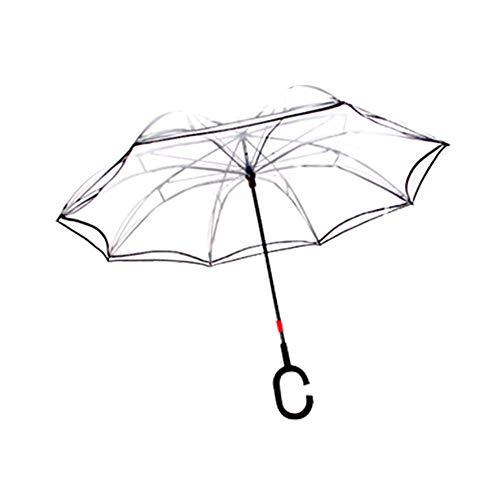 Paraguas inverso automático Transparente Doble Capa