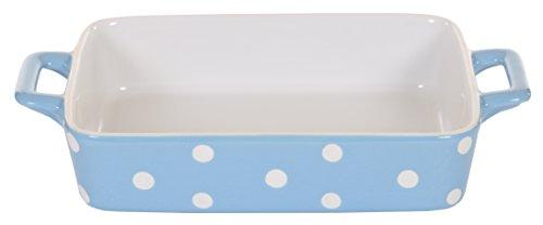 Isabelle Rose IR5452 - Auflaufform klein, blau mit weißen Punkten, polka dot (Dot Polka Kleine)