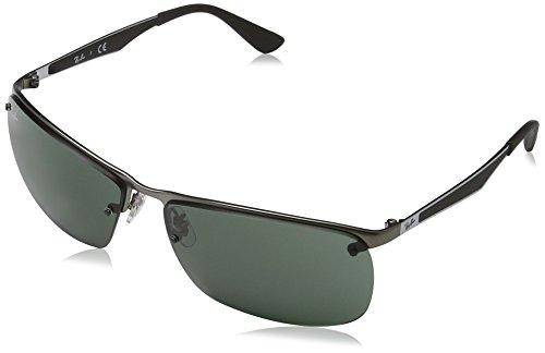 Ray Ban Herren Sonnenbrille RB3550, Mehrfarbig (Gestell: matt grau,Gläser: grün 029/71), X-Large (Herstellergröße: 64)