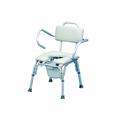 Patterson Medical Lightweight Padded Shower Chair with Cutout Flip Up Arms - low-cost UK light store.