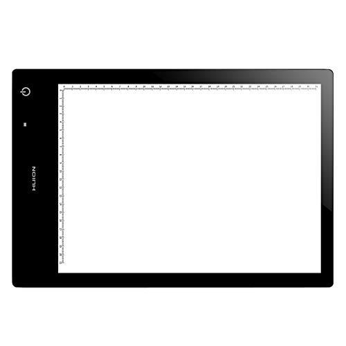GXLO HUION Display Pad Zeichenbrett LED Light Box, ultradünne Light Box mit Helligkeit einstellbar Tattoo Sketch Architektur Kalligraphie,Black,12.60X8.98Inch -